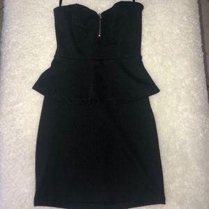 Sexy Strapless Black Mini Dress